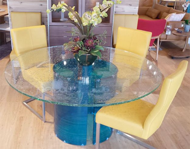 Glassisimo Contemporary Glass Dining Room Table