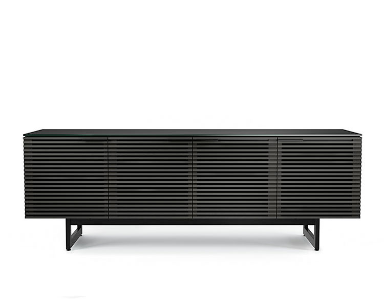 BDi Corridor Media Console 8179 in Charcoal Stained Ash