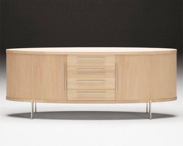 Naver Oval Contemporary Wood Sideboard