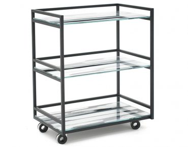 Glassisimo Retro Modern Bar Cart