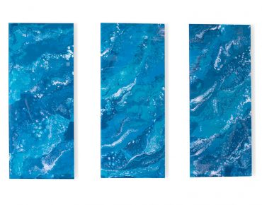 Glassisimo Hydrosphere Triptych Wall Art